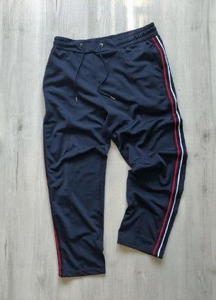 Boohoo укороченные брюки спортивные с лампасами h&m