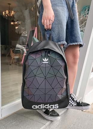 Женский рюкзак adidas хамелеон голографический