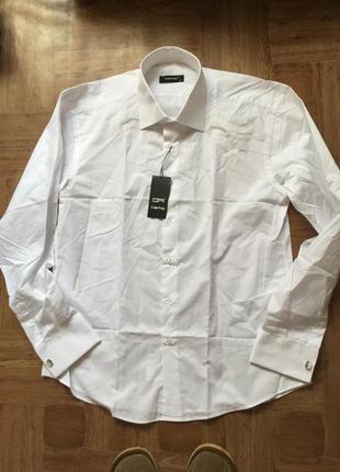 Белая рубашка (размер xl) на запонках