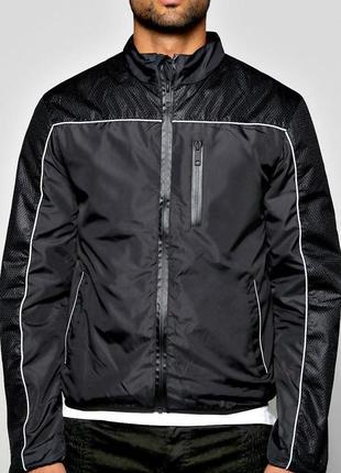 Куртка ветровка черная (бомбер)