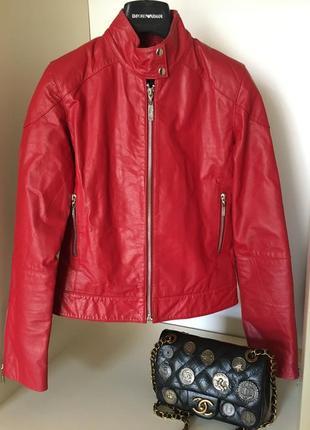 Кожаная куртка косуха мax original leather      (не  max mara)
