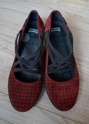 Туфли camper (испания) кожа шикарные