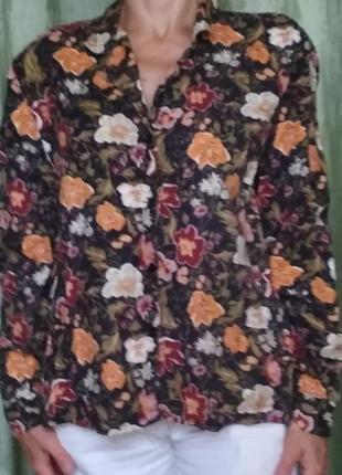 Блуза с цветами 042
