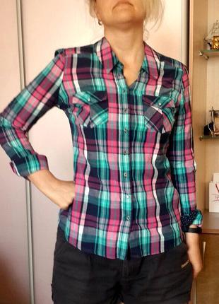 Женская рубашка в клеточку tally weijl