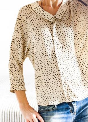 Стильная блузка zara с вырезом на спине xs-s