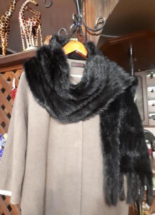 Великолепная норковая шаль