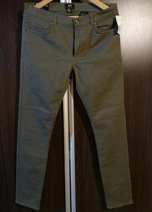 Штаны h&m темно-зеленые