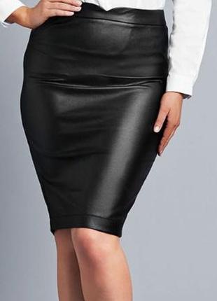 Новая черная юбка-карандаш avon (искусственная кожа) - 50-52 размер-200 грн