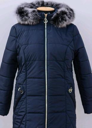Зимняя куртка с натуральной опушкой