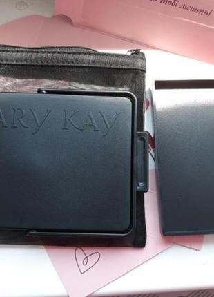 Зеркало с подставкой и косметичка mary kay folding stand up travel make-up мери кей3 фото