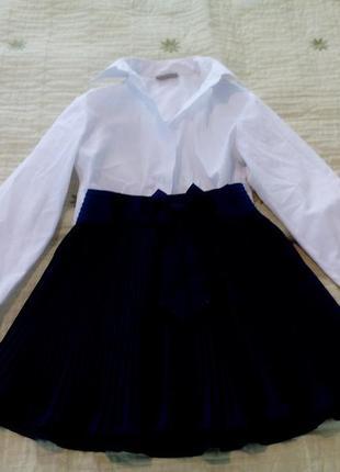 Школьная форма- юбка+ рубашка