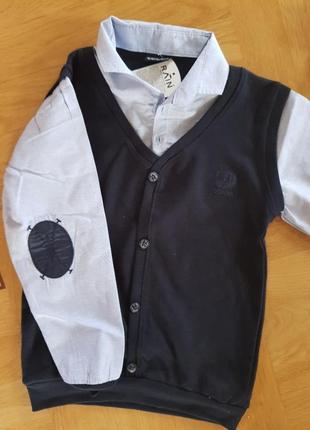 Рубашка обманка( жилет)