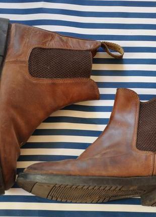 Коричневые кожаные челси (ботинки)