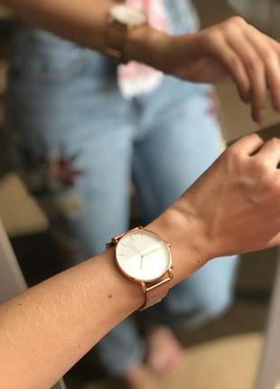 Золотые наручные часы/круглые часы/ бежевые часы