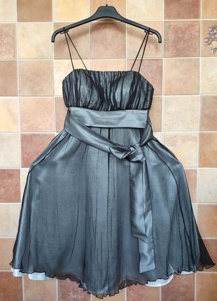 Атласное, вечернее, коктейльное платье