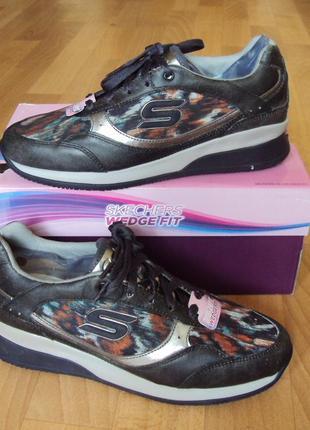 Skechers. стелька 25/25.5см. кожаные кроссовки, туфли, сникерсы. оригинал. демисезон.2 фото