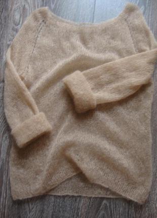 Скидка!!! модный свитер паутинка из кид мохера