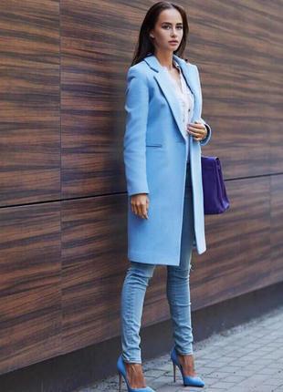 Пальто 💙 нереально крутого цвета