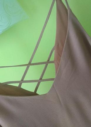 Шикарное платье на тонких бретелях с кружевом от river island2 фото