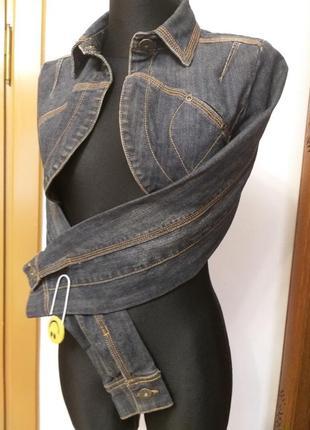Джинсова коротка куртка/болеро eksept m