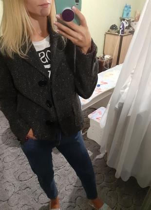 Шерстяное полупальто, жакет, пиджак