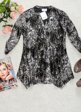 Новая стильная ажурная блуза в принт от c&a