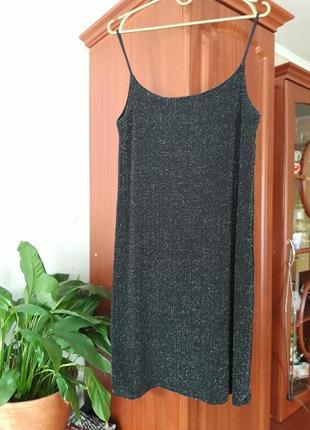 Платье стильное,люрекс.