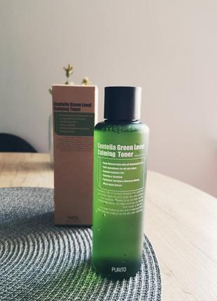 Purito centella green level calming toner  корейская косметика