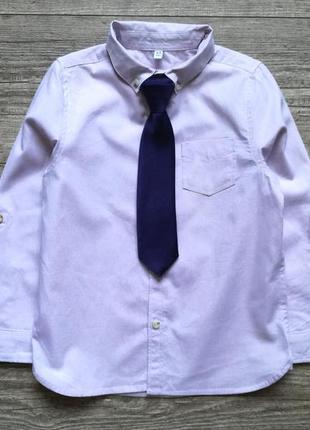 Рубашка с галстуком m&s 4-5 лет.