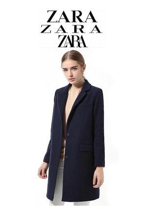 🔥скидка 🔥24 часа 🔥zara navy coat шерстяное пальто зара классическое длинное синее
