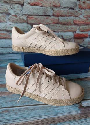 Кожаные кроссовки сникерсы k-swiss belmont so jute