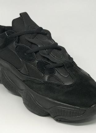 Кроссовки мужские в стиле pm  8031-1 черные