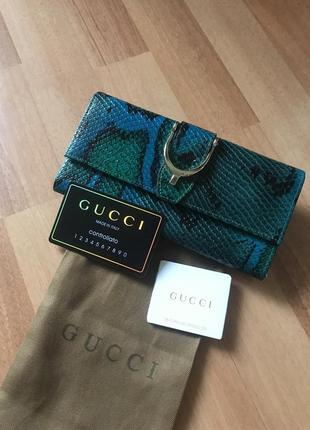 Кожаный кошелёк gucci