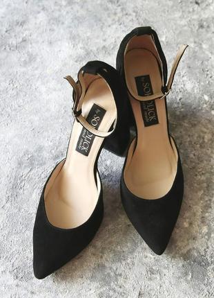 Женские замшевые туфли sokolick, стильные элегантные туфли4 фото