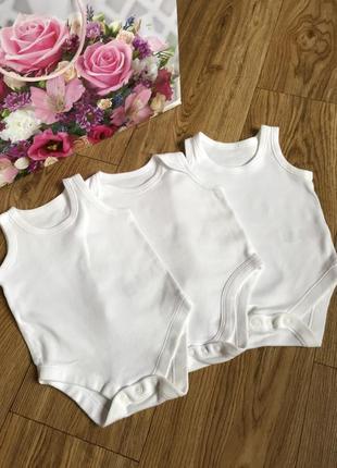 Белоснежный боди-маечки для новорожденных