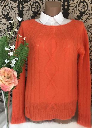 Мохеровый♥️ оранжевый шерстяной свитер vicolo cos fabiana.
