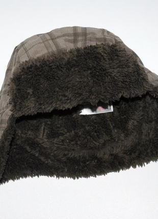 Демисезонная стильная шапка ушанка на мальчика 2-4 лет cherokee