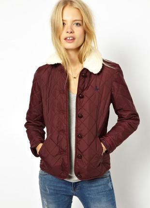 Оригинальная легкая стеганная куртка с borg-воротником от jack wills
