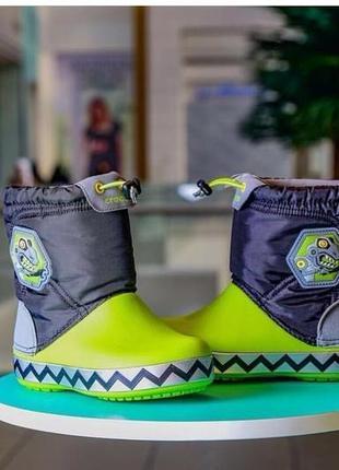 Зимние сапоги детские crocs c9 c10 c12