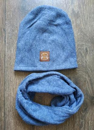 Комплект шапка + снуд, хомут и шапочка