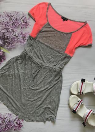 Спортивное платье topshop сетка яркое неоновое серое