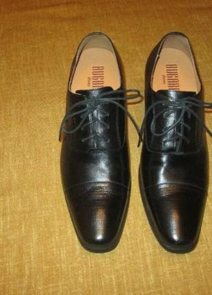 Новые туфли bugarri лифт обувь увеличивает рост +7 см. черные кожаные оксфорды