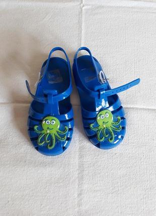 Сандалии босоножки синие осьминог