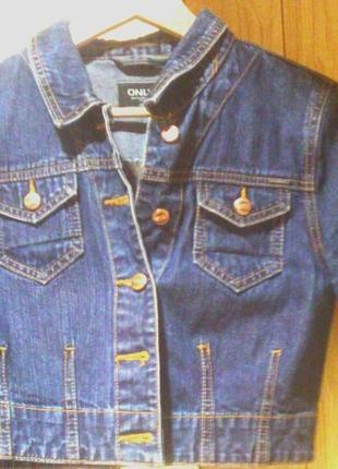 Укороченный джинсовый жакет от only