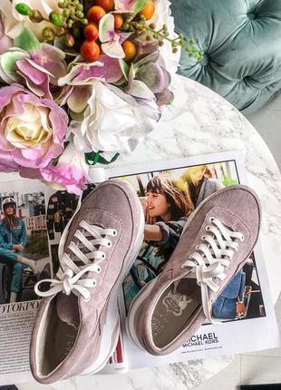 Замшевые пудровые кроссовки! украина! цена снижена! последние размеры!