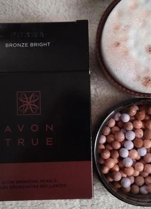 Румяна-шарики от avon true,22г, оттенок bronze bright / интенсивно-бронзовые