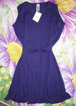 Летнее платье солнце-клеш на девочку с голыми плечами