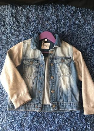 Джинсовая куртка для мальчика 5-6 лет