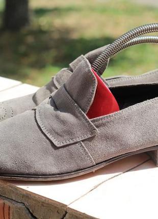 Шикарные кожаные туфли open closed 40-41 испания