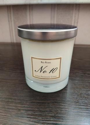 Арома свеча luxury fragranced candle no 10 red roses 250гр